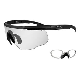 Wiley X Saber Advanced Matte Black Clear 1 Lens w/ RX Insert