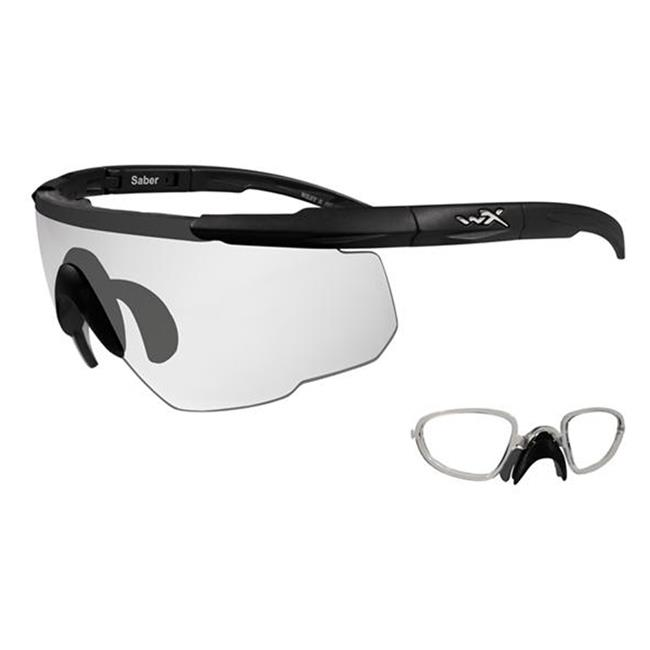 Wiley X Saber Advanced 1 Lens w/ RX Insert Matte Black Clear