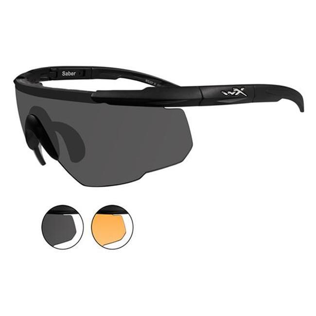 Wiley X Saber Advanced Matte Black Smoke Gray / Light Rust 2 Lenses