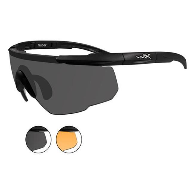 Wiley X Saber Advanced Matte Black 2 Lenses Smoke Gray / Light Rust