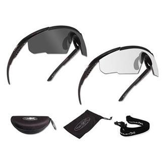 Wiley X Saber Advanced Matte Black (frame) - Smoke Gray / Clear (2 Frame)
