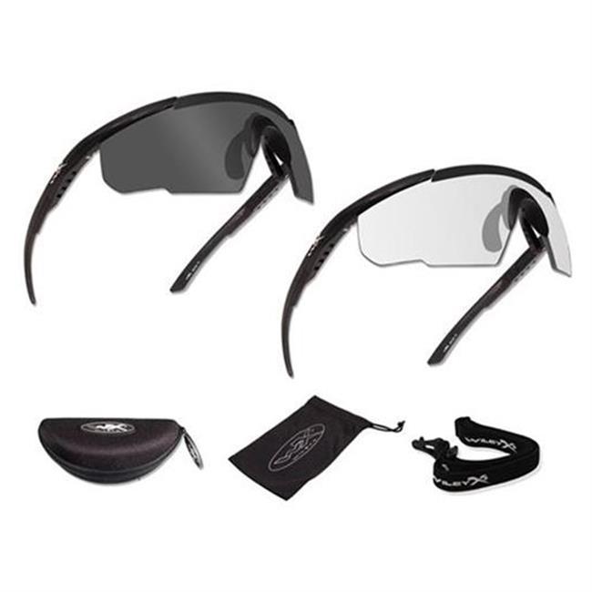 Wiley X Saber Advanced Matte Black Smoke Gray / Clear 2 Frame
