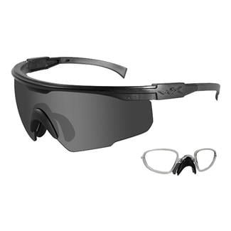 Wiley X PT-1 Matte Black Smoke Gray 1 Lens w/ RX Insert