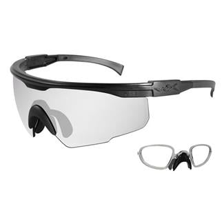 Wiley X PT-1 Matte Black Clear 1 Lens w/ RX Insert