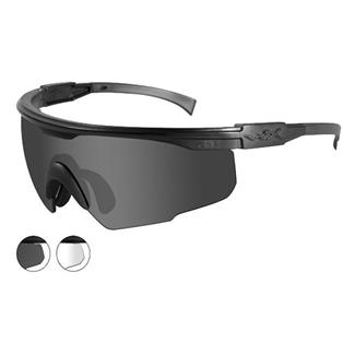 Wiley X PT-1 Smoke Gray / Clear 2 Lenses Matte Black