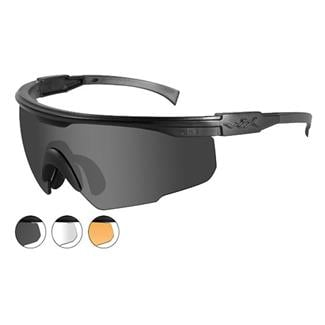 Wiley X PT-1 Matte Black 3 Lenses Smoke Gray / Clear / Light Rust