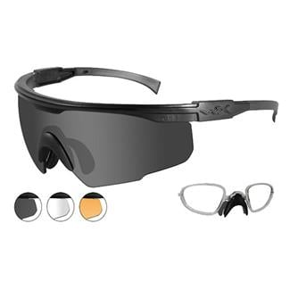 Wiley X PT-1 Matte Black 3 Lenses w/ RX Insert Smoke Gray / Clear / Light Rust