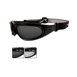 Wiley X SG-1 V-Cut Matte Black (frame) - Smoke Gray / Clear (lens)