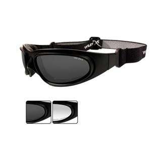 Wiley X SG-1 2 Lenses Matte Black Asian Fit Smoke Gray / Clear