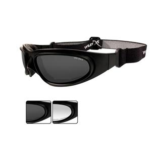 Wiley X SG-1 Smoke Gray / Clear Matte Black Asian Fit 2 Lenses