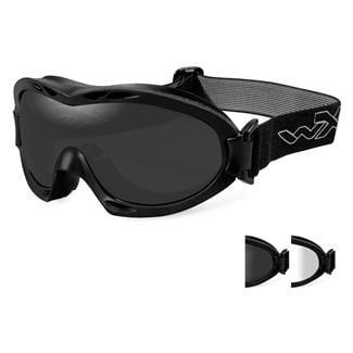 Wiley X Nerve Matte Black Smoke Gray / Clear 2 Lenses