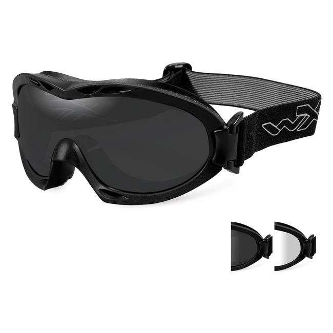 Wiley X Nerve 2 Lenses Smoke Gray / Clear Matte Black