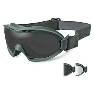 Wiley X Nerve Smoke Gray / Clear 2 Lenses Foliage Green