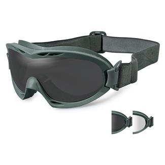 Wiley X Nerve Foliage Green (frame) - Smoke Gray / Clear (2 Lenses)