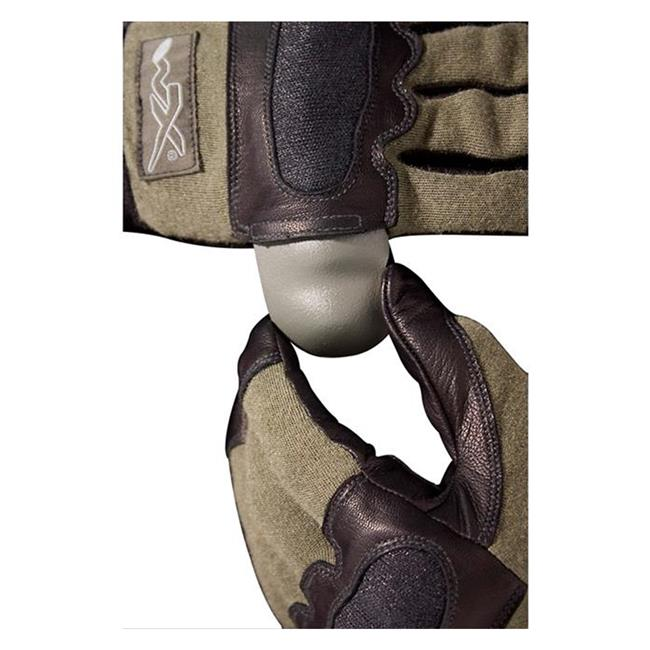 Wiley X Hybrid Removable Knuckle Gloves Foliage Green