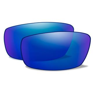 Wiley X AirRage Replacement Lenses Polarized Blue Mirror
