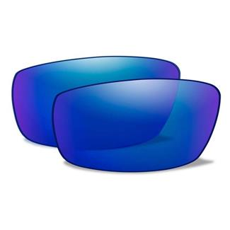 Wiley X Zak Replacement Lenses Polarized Blue Mirror