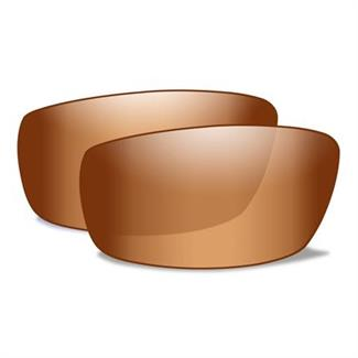 Wiley X P-17 Replacement Lenses Bronze Silver Flash