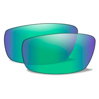 Wiley X P-17 Replacement Lenses Polarized Emerald Mirror