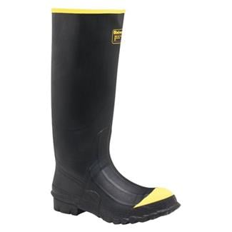 """LaCrosse 16"""" Premium Knee ST Steel Shank Black / Yellow"""
