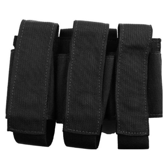 Elite Survival Systems MOLLE Triple Grenade Pouch Black