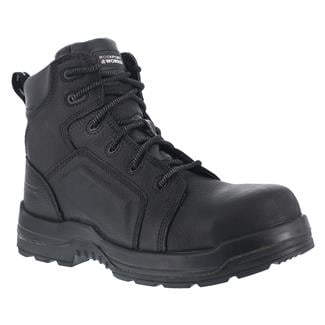 """Rockport Works 6"""" More Energy Lace to Toe Work CT WP Black"""