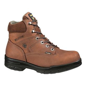 "Wolverine 6"" Leather Durashocks Work Dark Brown"