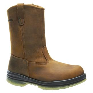 "Wolverine 10"" Durashocks Wellington 200G ST WP Brown"
