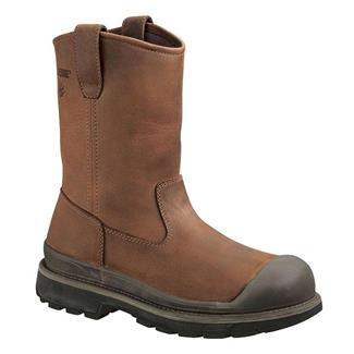 "Wolverine 10"" Crawford Wellington ST WP Brown"