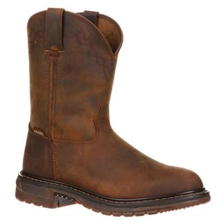 """Rocky 10"""" Original Ride Round Toe Unlined Old Weathered Tan"""