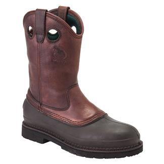 "Georgia 11"" Mud Dog Comfort Core Pull-On ST Soggy Brown"