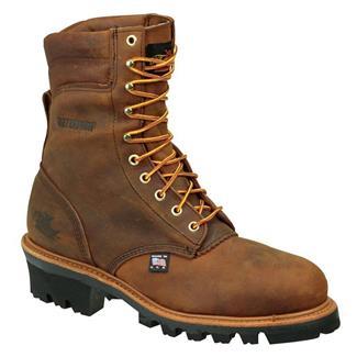 "Thorogood 8"" American Heritage Job Pro Logger ST 400G WP Brown Trail"