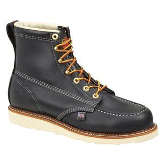 "Thorogood 6"" American Heritage Moc Toe Wedge Black"