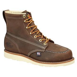 "Thorogood 6"" American Heritage Moc Toe Leather Wedge Dirty Brown"