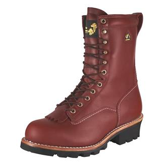 """Golden Retriever 9"""" Logger Leather WP ST Red Oak"""