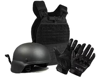 Black Tactical Armor and Protection