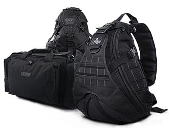 Black Tactical Bags and Packs
