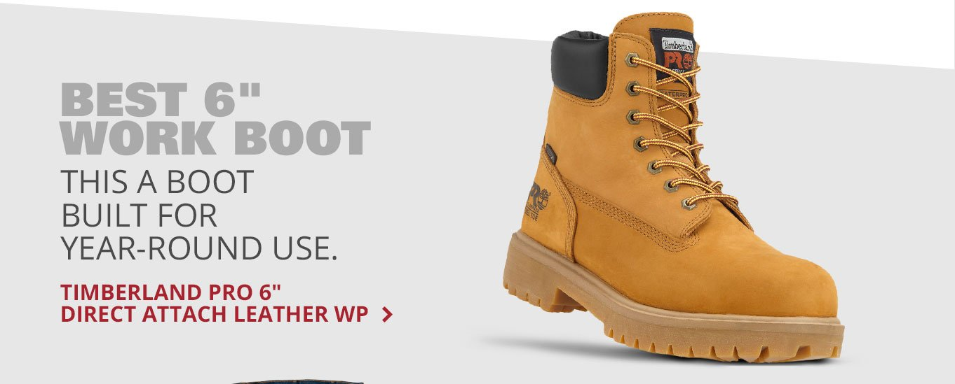 Best 6 work boot: Timberland PRO 6