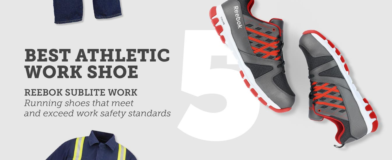 Best Athletic Work Shoe: Reebok SubLite Work ST