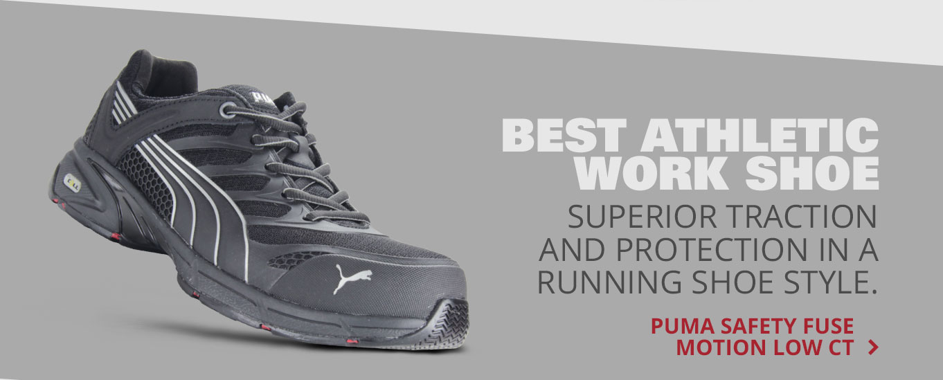 Best Athletic Work Shoe: Puma Safety Fuse Motion Low CT