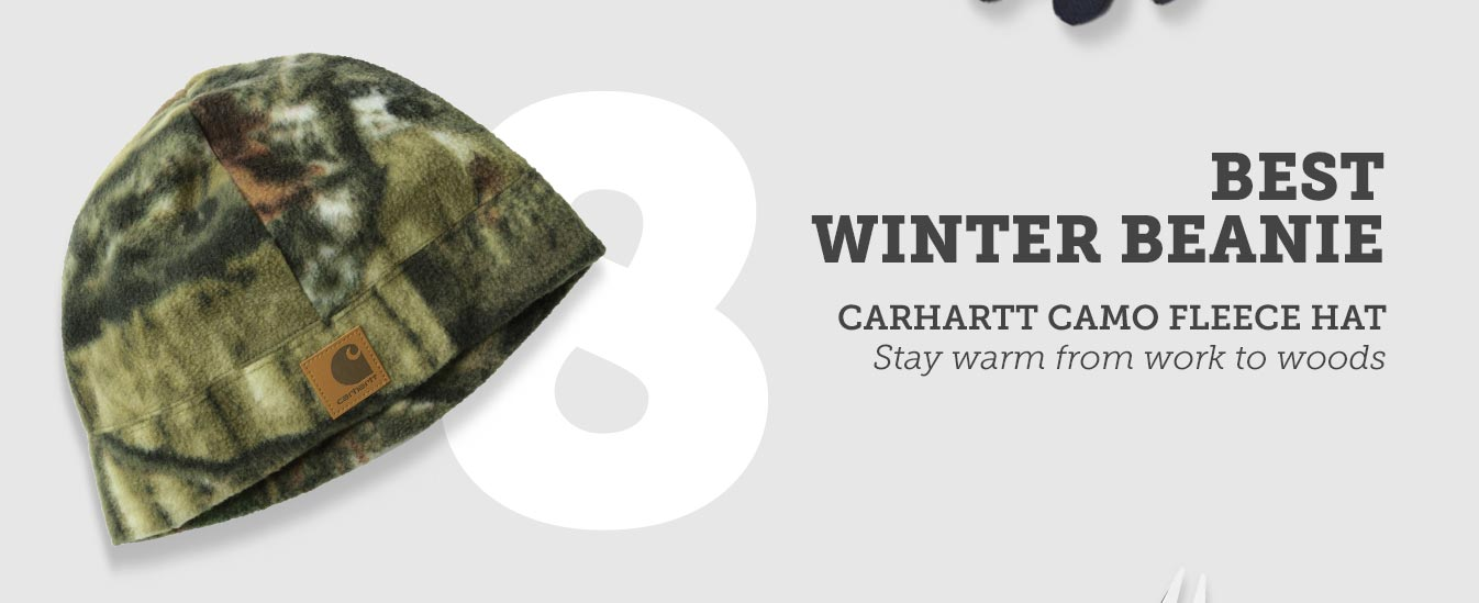 Best Winter Beanie: Carhartt Camo Fleece Hat