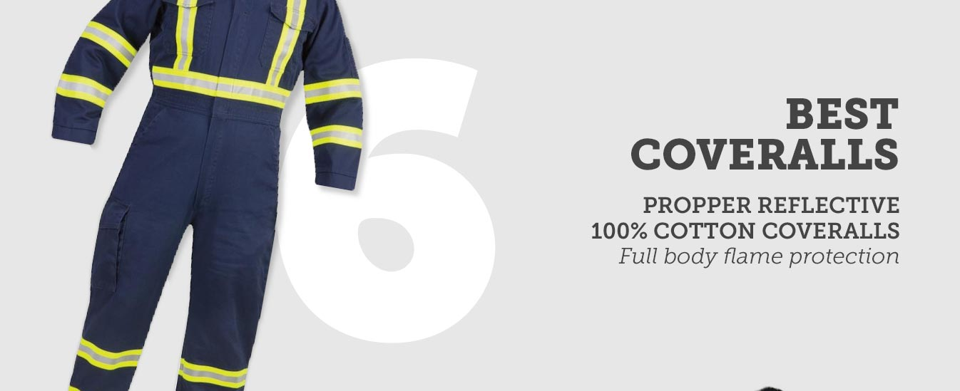 Best Coveralls: Propper Reflective 100% Cotton FR Coveralls
