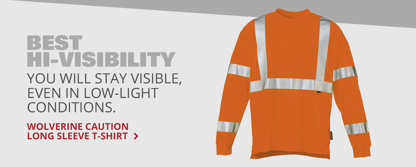 Best Hi-Visibility: Wolverine Caution Long Sleeve T-Shirt