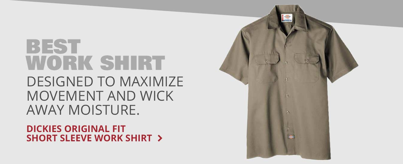 Best Work Shirt: Dickies Original Fit Short Sleeve Work Shirt