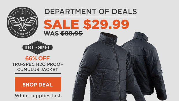 66% off Tru-Spec H2O Proof Cumulus Jacket