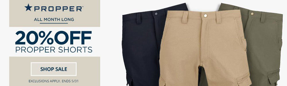 20% OFF Propper Shorts
