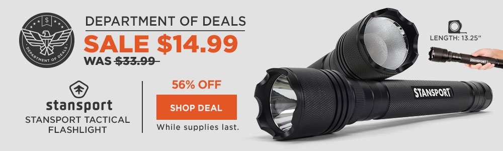 Stansport Tactical Flashlight