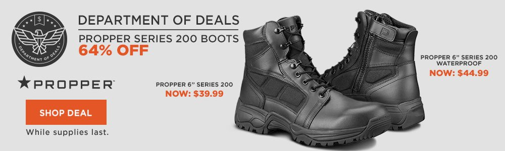 64% Off Propper Series 200 Boots
