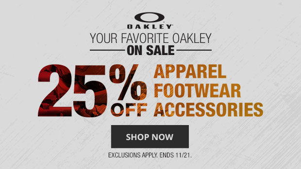 25% OFF SELECT OAKLEY