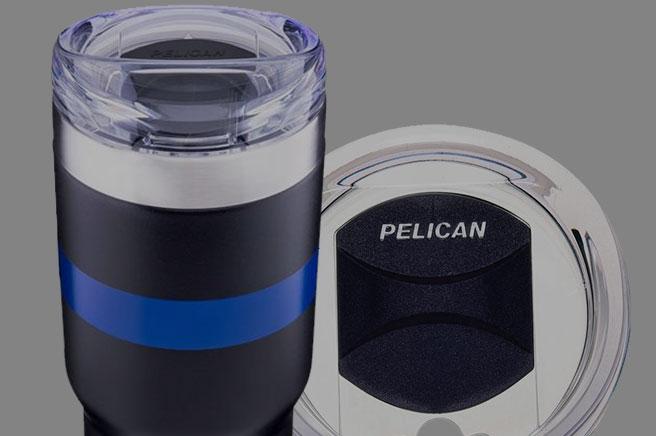 Pelican 32 oz Thin Blue Line Tumbler